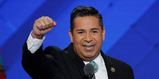 Democratic Congressional Campaign Committee Chair, U.S. Rep. Ben Ray Lujan (D-NM) speaks during the third day of the Democratic National Convention in Philadelphia, Pennsylvania, U.S. July 27, 2016. REUTERS/Mike Segar - RTSJZ5D