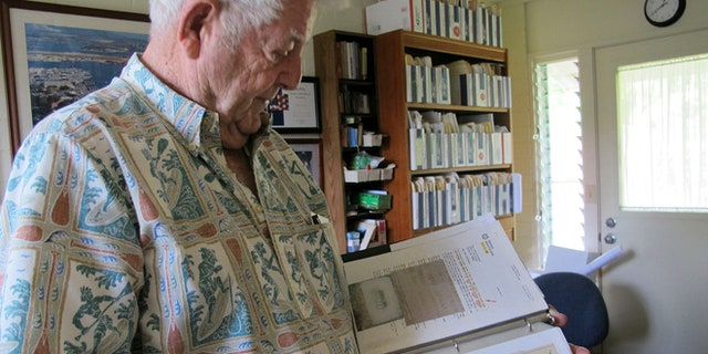 Nov. 21, 2012: Ray Emory discusses his work pushing to change grave markers for unknown Pearl Harbor dead and identifying the remains of unknowns at his home in Honolulu.