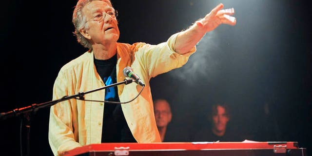 """Aug. 16, 2012"""" In this file photo, Ray Manzarek of The Doors performs at the Sunset Strip Music Festival launch party celebrating The Doors at the House of Blues in West Hollywood, Calif. Manzarek, the keyboardist who was a founding member of The Doors, has died at 74."""
