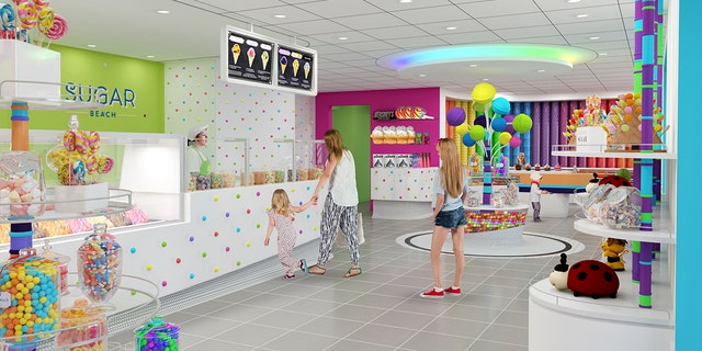 """The ship will have its own """"Sugar Beach"""" candy and ice-cream shop for guests with a sweet tooth."""