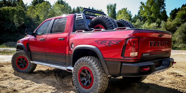 The Rebel TRX concept has a 575 hp supercharged V8 and 13-inches of wheel travel.
