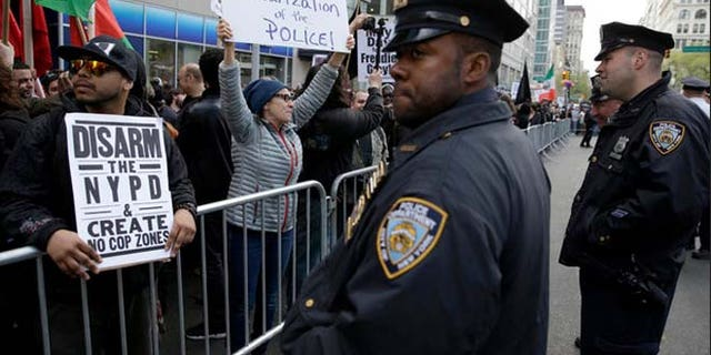 Police protests have rocked the nation since a racially charged shooting in Missouri.
