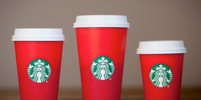 Starbucks holiday cups feature a plain red design devoid of any traditional Christmas designs.