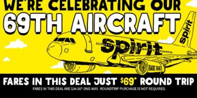 Tactful or tasteful? Budget carrier launches $69 fare deal.