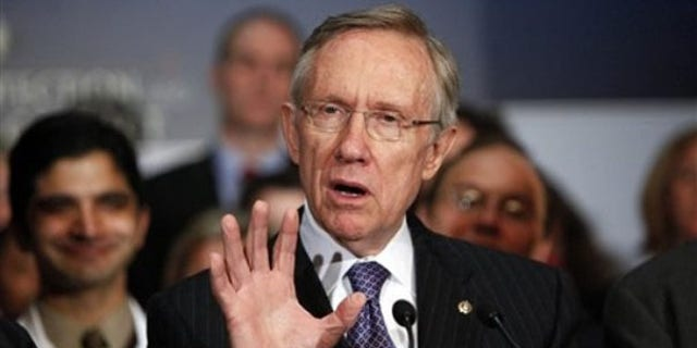 Senate Majority Leader Harry Reid speaks at a news conference on Capitol Hill Dec. 22. (AP Photo)