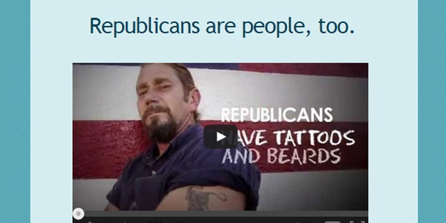 Shown here is an image from the 'Republicans are people, too' website.