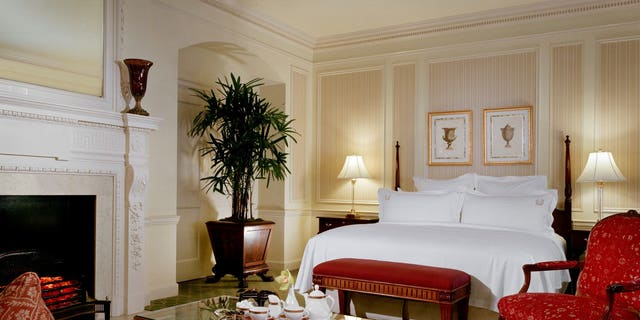 A luxury suite at one of the country's most expensive hotels in New York City.