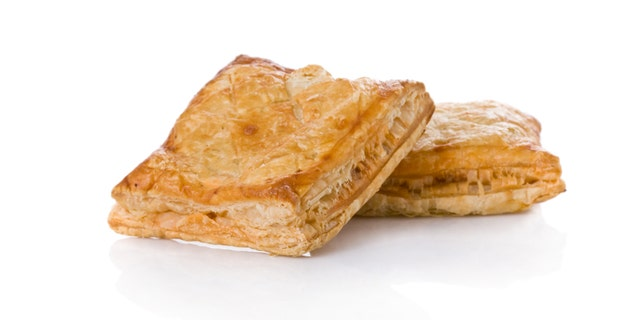 Puff pastry (sweet or salted)  isolated on white background