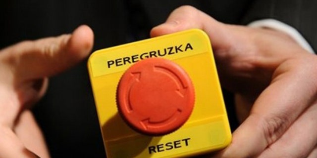 The mock 'reset' button then-Secretary of State Hillary Clinton handed to Russian Foreign Minister Sergei Lavrov during a 2009 meeting.