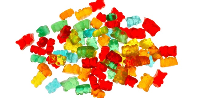 Pile of gummy bears