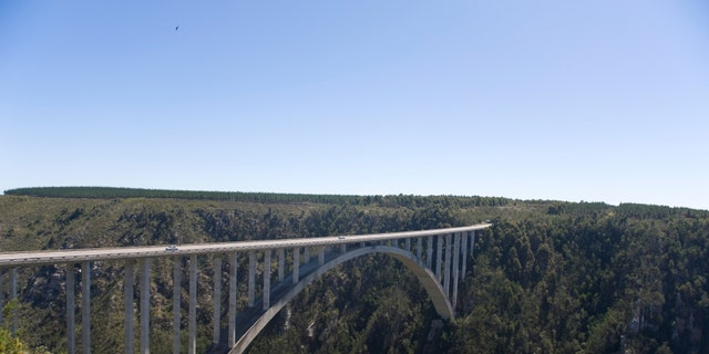Bloukrans River bridge (216 m) highest bungee-jumping point in the world