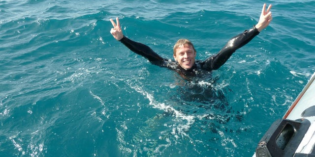 Enjoying the water in Cape Verde, Africa.