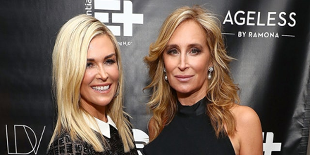 Tinsley Mortimer poses with former roomate Sonja Morgan.