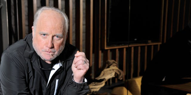 Richard Dreyfuss poses for a photo at The Roosevelt Hotel in Los Angeles on April 11, 2014.