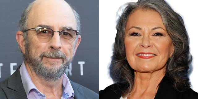 Richard Schiff, left, voiced his support for Roseanne Barr, right, after she was fired from her ABC sitcom in May.