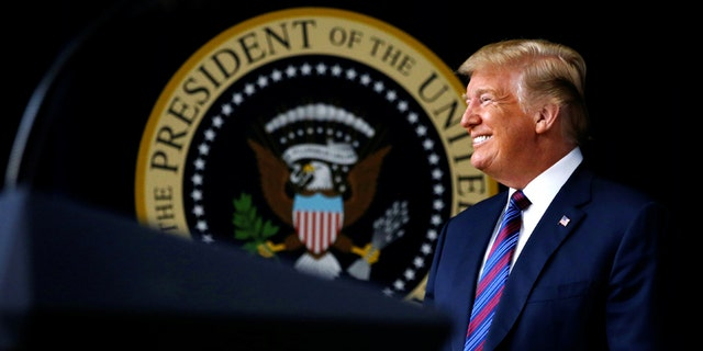 """U.S. President Donald Trump arrives prior to signing the """"Right to Try Act,"""" which gives terminally ill patients the right to use experimental medications not yet been approved by the Food and Drug Administration (FDA), at the White House in Washington, U.S., May 30, 2018. REUTERS/Leah Millis - RC1B4F473AB0"""