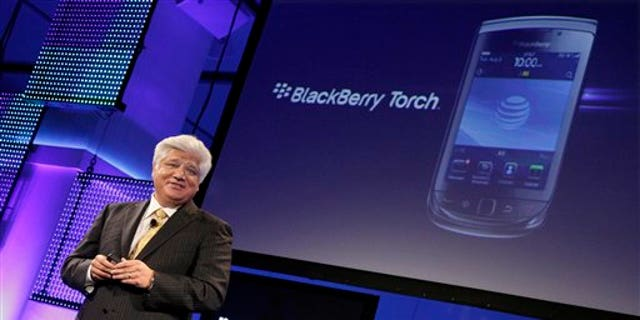 Co-Chief Executive Officer Mike Lazaridis of Research in Motion talks about his company's new Blackberry Torch.