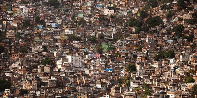 May 22, 2012: Homes crowd the Rocinha shantytown in Rio de Janeiro, Brazil.