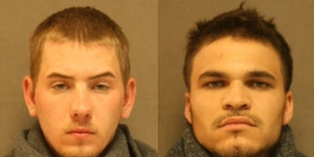 Vincent Rist, 22, and Antonio Bowen, 24, were arrested and charged after allegedly setting a woman on fire.  (Johnson County Sheriff's Office)