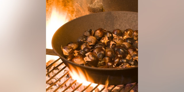 What chestnuts really need to open up is steam. Keeping them warm just until you peel them is also key.