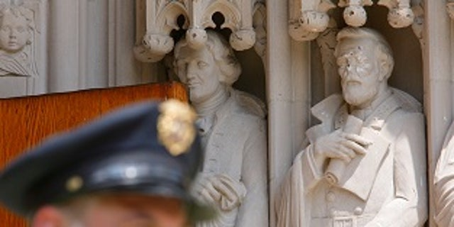 Duke University said the Gen. Robert E. Lee statue was found vandalized on Thursday, Aug. 17, 2017.