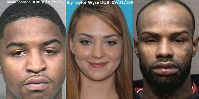 Travonn Johnson, left, Shelby Wyse and David Dowell Mitchell were arrested in connection with a violent robbery.