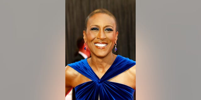 This Feb. 24, 2013 file photo shows broadcaster Robin Roberts arriving at the 85th Academy Awards at the Dolby Theatre in Los Angeles.