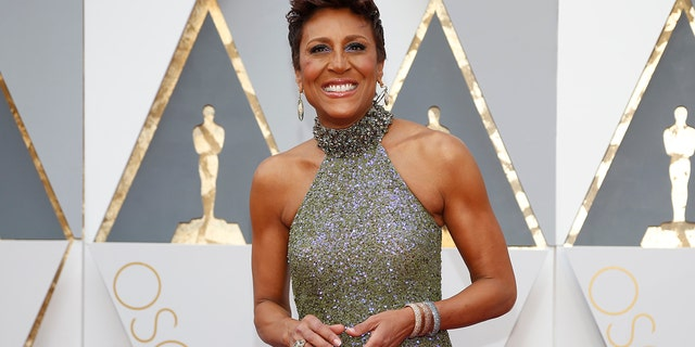 Television presenter Robin Roberts arrives at the 88th Academy Awards in Hollywood, California February 28, 2016.