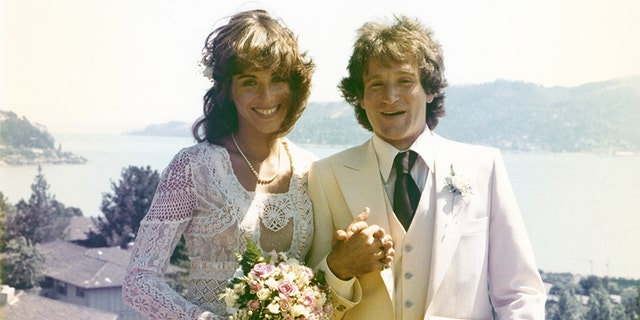 Robin Williams and his first wife Valerie Velardi.