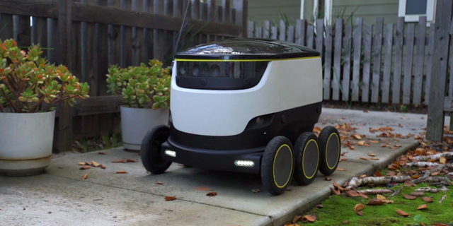 """""""I do think there's a very big difference between a car traveling at 80 miles an hour or 70 miles an hour in a freeway and a robot traveling at max speed four miles an hour on the sidewalk,"""" Harris-Burland said."""