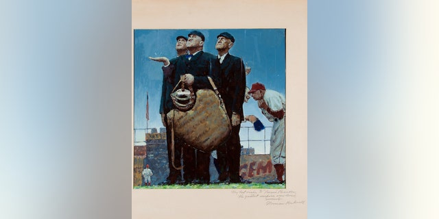 This undated photo provided by Heritage Auctions shows a rendering by Norman Rockwell of one of his best known paintings.
