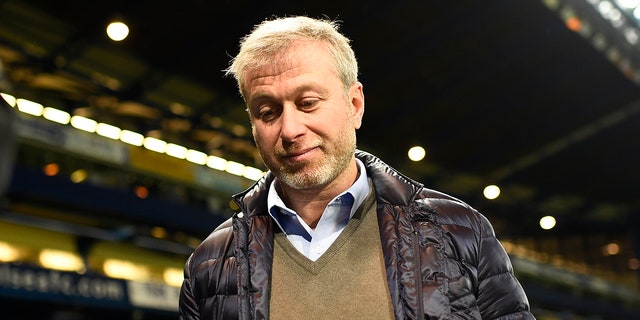 Roman Abramovich, who owns Chelsea Football Club, pictured in 2015 after a match.