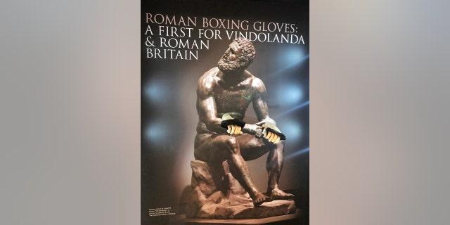 The Roman boxing gloves discovered at the ancient fort of Vindolanda near Hadrian's Wall (The Vindolanda Trust)