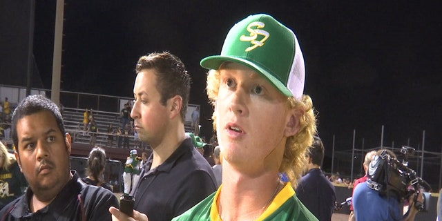 Santa Fe High School pitcher Rome Shubert had only a Bandaid on his neck Saturday night after getting shot in the head Friday morning.
