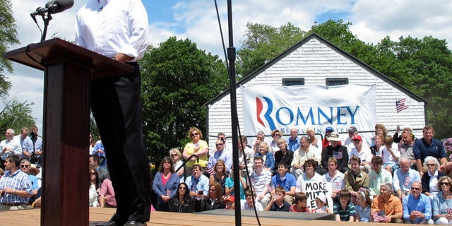 Mitt Romney announces he is running for president, Thursday, June 2, 2011, during a campaign event at Bittersweet Farm in Stratham, N.H.(FNC)