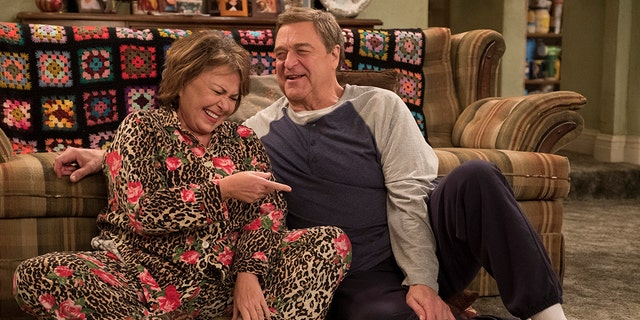 "ROSEANNE - ""Netflix & Pill"" - After celebrating their 45th anniversary, Roseanne reveals to Dan a bigger problem with her bad knee. Meanwhile, Crystal announces her retirement as a waitress at the casino, and Becky and Darlene compete for the job which has full-time benefits, on the eighth episode of the revival of ""Roseanne,"" TUESDAY, MAY 15 (8:00-8:30 p.m. EDT), on The ABC Television Network. (ABC/Adam Rose)