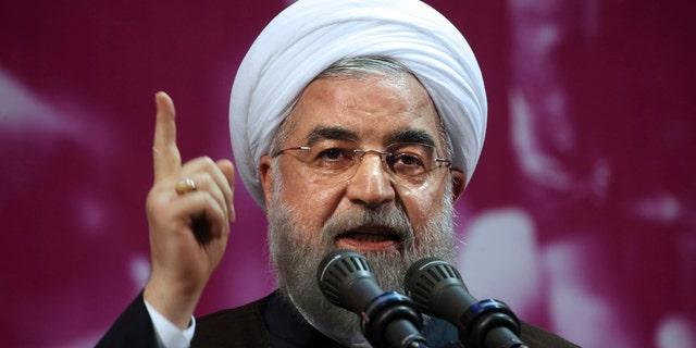 Iran's President Hassan Rouhani speaks in Tehran, May 9, 2017.