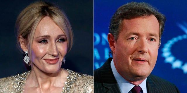 J.K. Rowling is in a Twitter war with Piers Morgan.