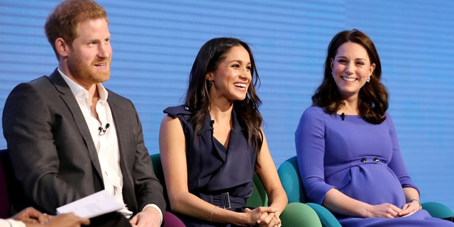 Prince Harry, Meghan Markle and Duchess Kate Middleton.