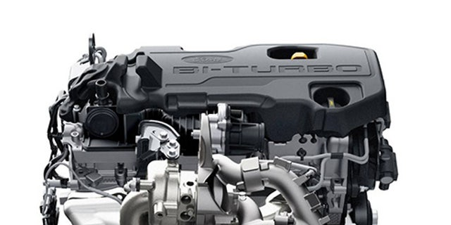 This 2.0-liter four-cylinder diesel has twin turbochargers and is rated at 210 hp and 369 lb-ft.