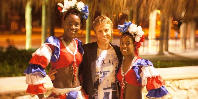 Surrounded by locals in Punta Cana, Dominican Republic.