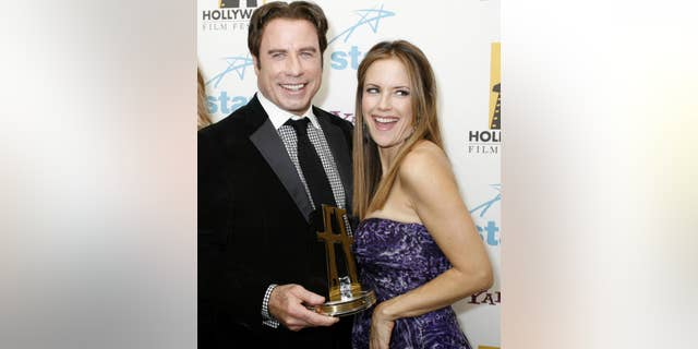 John Travolta married Kelly Preston in 1991. She had previously dated Charlie Sheen, who shot her.