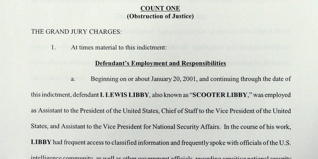 Scooter Libby was convicted on four felony counts of perjury, lying to the FBI and obstructing the investigation into the leak of a CIA operative's identity. He was originally sentenced to 30 months in prison, but then-President George W. Bush commuted the sentence.