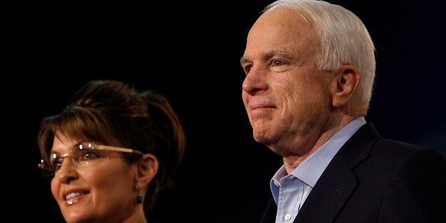 Seen as a surprise to many, John McCain selected then-Alaska Gov. Sarah Palin as his presidential running mate.