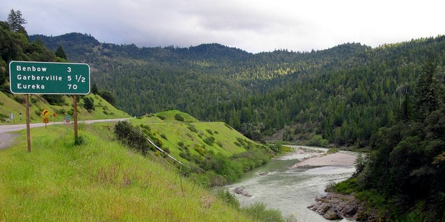 The Eel River, where a family is feared to have driven into the water, is situated along a highway in Northern California.