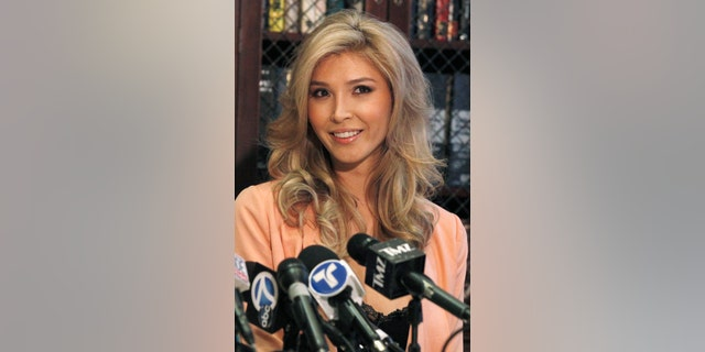 Canadian model Jenna Talackova attends a news conference in Los Angeles, Calif., April 3, 2012.