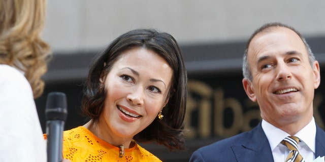 """Today"" show hosts Ann Curry and Matt Lauer appear on set during the show in New York June 22, 2012. NBC executives are in talks with Curry about moving her to one of the network's news programs, only a year after she succeeded Meredith Viera at the morning show.  REUTERS/Brendan McDermid (UNITED STATES - Tags: ENTERTAINMENT PROFILE) - RTR340H6"