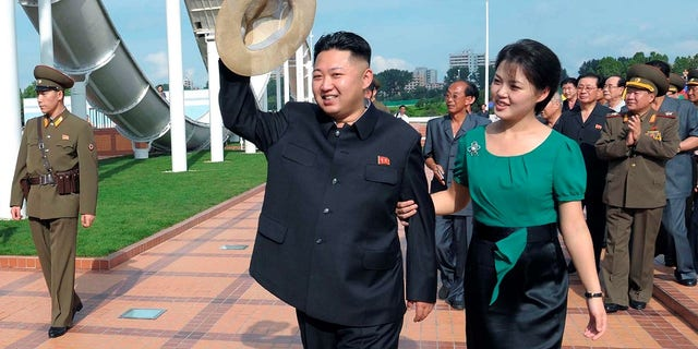 Ri Sol Ju is rarely pictured without her husband Kim Jong Un.