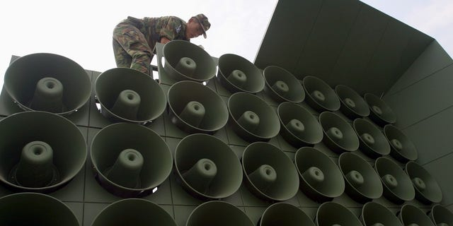 South Korea reportedly provided updates on the North Korean soldier's defection by blasting news to the Hermit Kingdom through the loudspeakers.