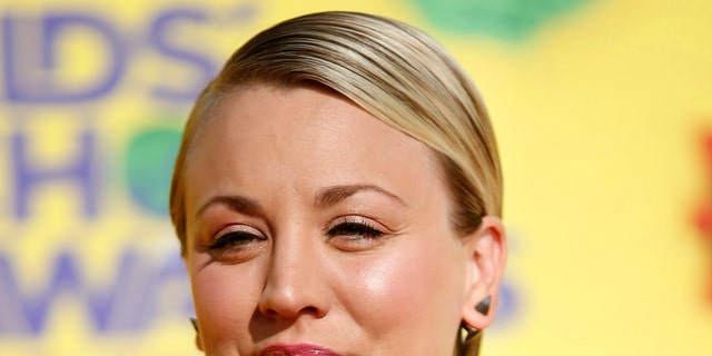 Actress Kaley Cuoco arrives at the 2015 Kids' Choice Awards in Los Angeles, California March 28, 2015. REUTERS/Danny Moloshok - RTR4VAOX